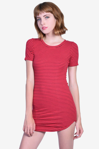 Ilkee Fitted Dress - Red