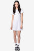 Tabbi Polo Dress - White
