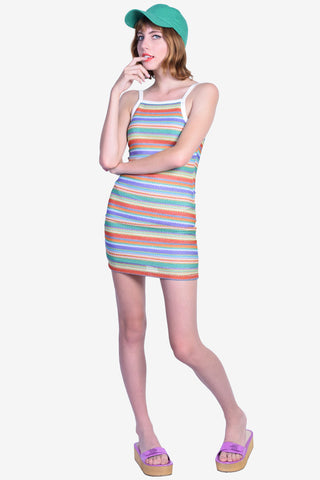 Zamora Bodycon Dress in Rainbow Knit by Motel