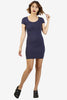 Cece Fitted Dress - Navy