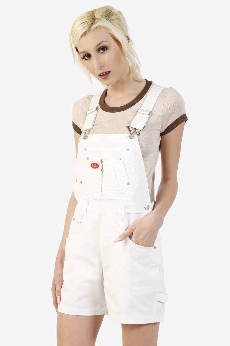 Over It Deadstock Overalls - White