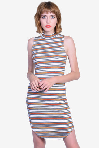 Polly Midi Striped Dress