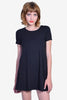 Ruthie Boxy T-Shirt Dress - Black