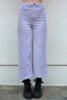 Love Buzz Wide Leg Corduroy Pants - Light Orchid