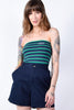 Navy Stripe Tube Top by Dickies Girl