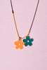Flower Power ECH Colored Chain Necklace - Lucky Charms