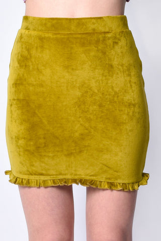 Fairy Dreams Velvet Ruffle Skirt