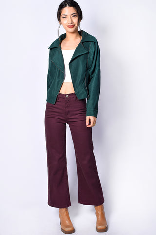 Astrid Moto Jacket - Hunter Green