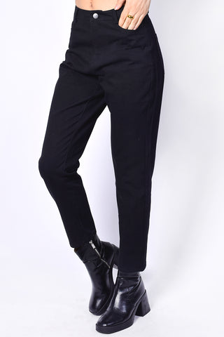 Mikael Perf Pants - Black