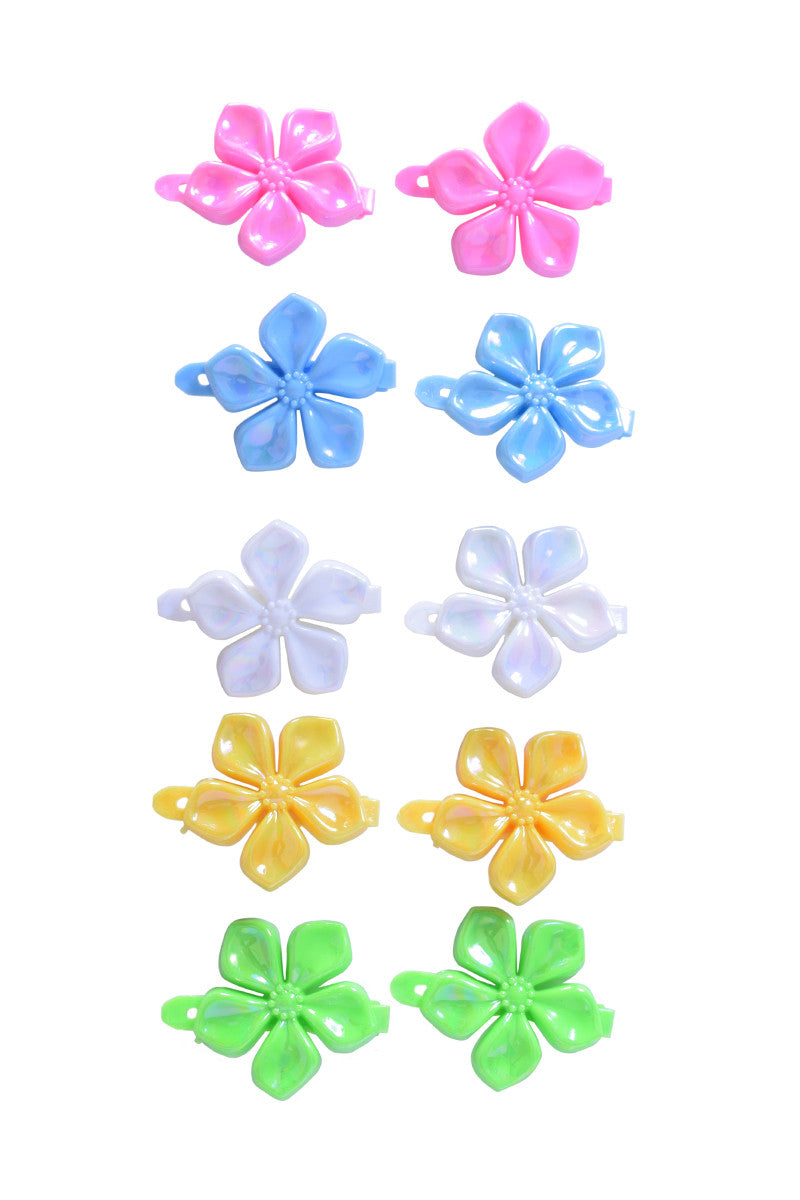 Summer Floral Hair Clips