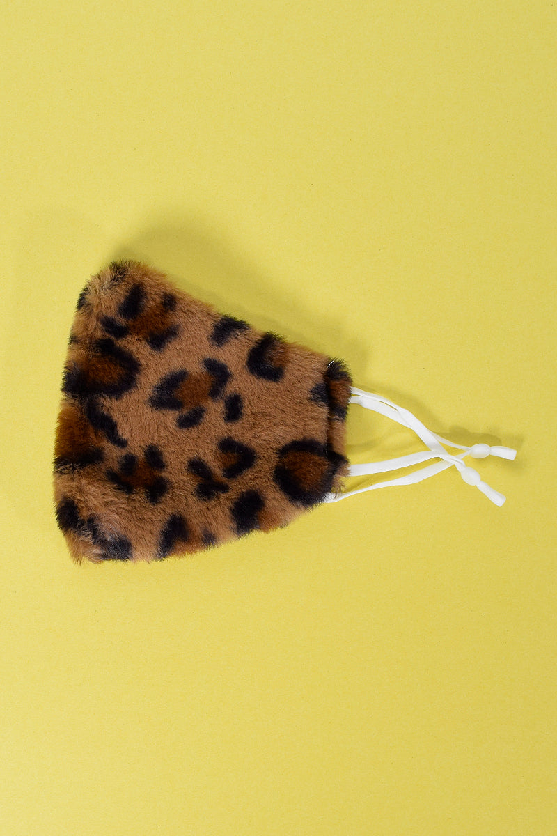 Furry Leopard Reusable Face Mask
