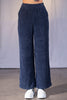 Gilmore Wide Leg Corduroy Trousers - Navy