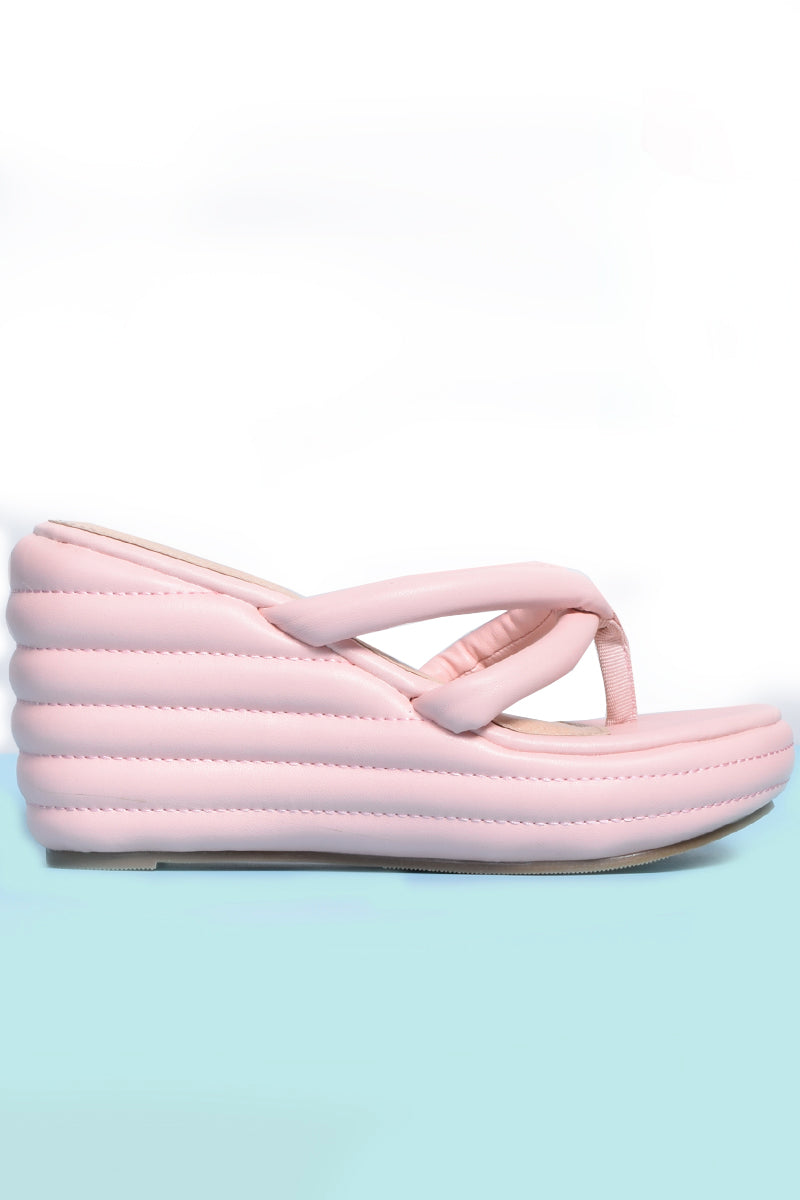 Cloud 9 Thong Platforms - Pink
