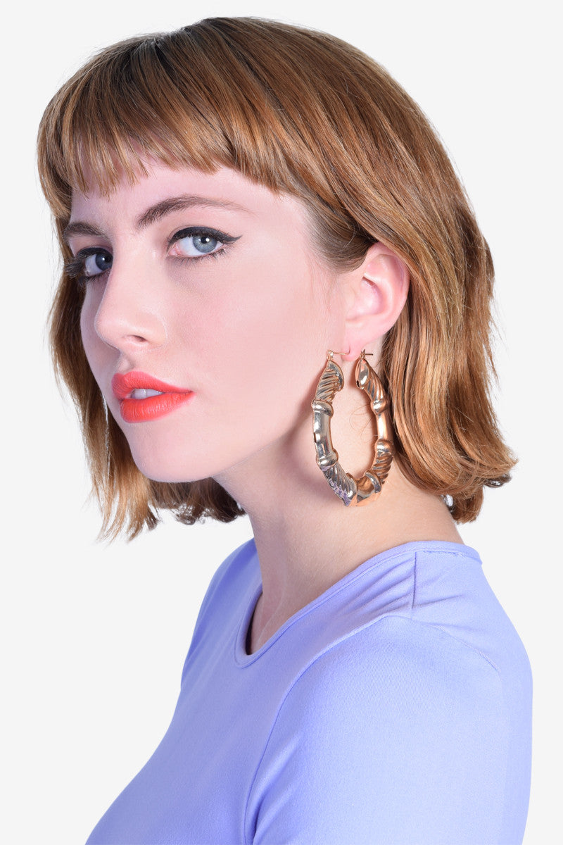 Ring Ding Hoop Earrings - Silver