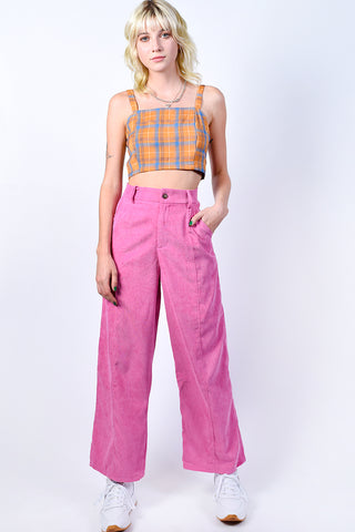 Galloway Plaid Crop Top