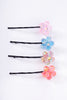 Deadstock Glitter Floral Hairpins