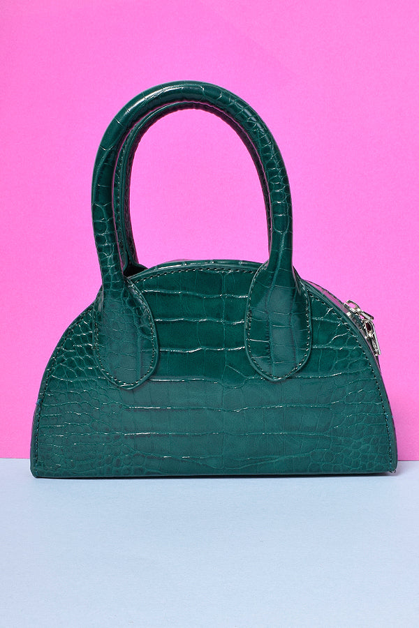 Hostage Crocodile Mini Bag - Hunter Green