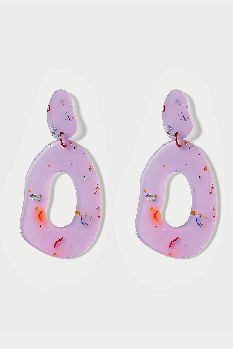 Confetti Dangle Earrings - Lilac