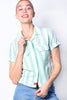 Mint Striped Work Shirt by Dickies Girl