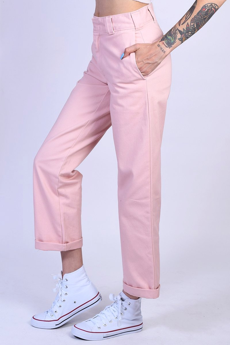 Blush Rolled Hem Work Pant by Dickies Girl