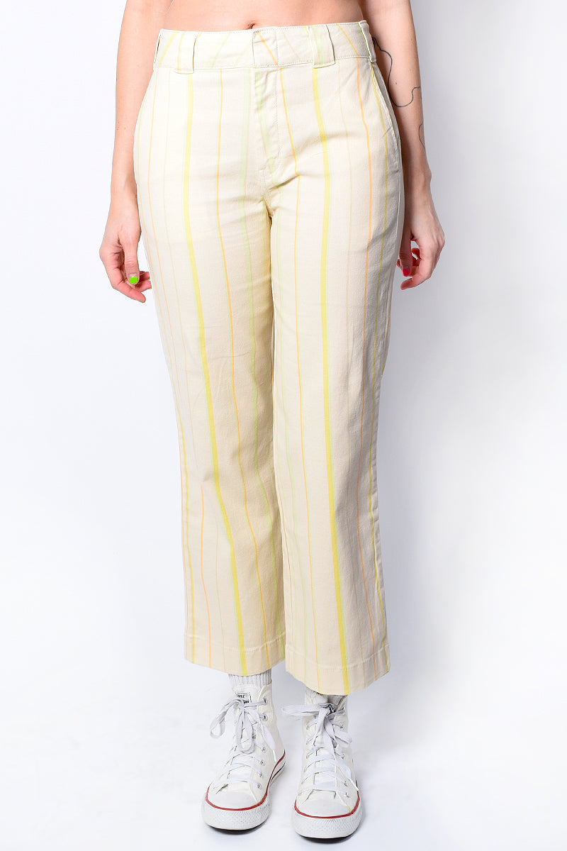 Birch Striped Cropped Work Pant by Dickies Girl