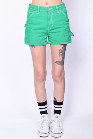 Green Carpenter Shorts by Dickies Girl