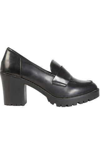 Chunky Heeled Penny Loafer