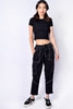 Black Cropped Cargo Pants by Dickies Girl