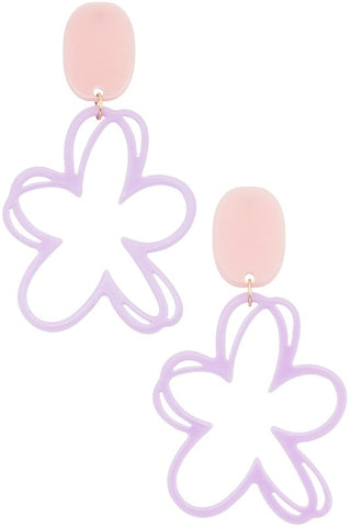 Daisy Dream Earring - Lilac