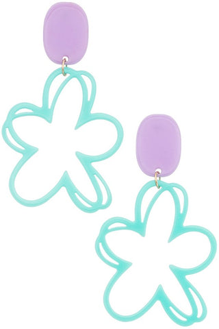 Daisy Dream Earring - Teal