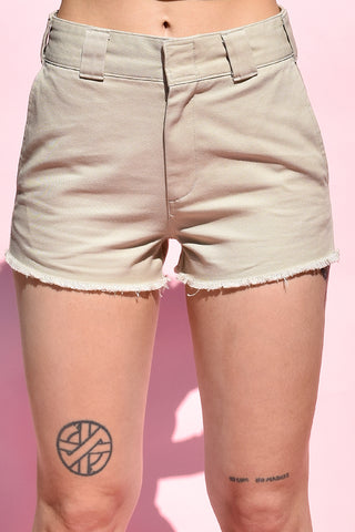 Khaki Work Shorts by Dickies Girl