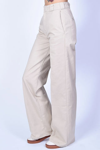 Khaki Wide Leg Work Pants by Dickies Girl