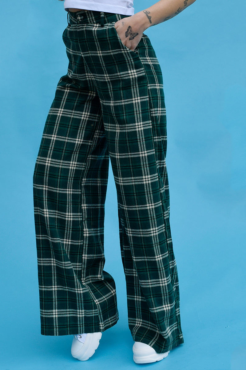 Laura Flannel Wide Leg Trouser by Daisy Street