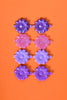 Purple Rain Floral Hair Clips