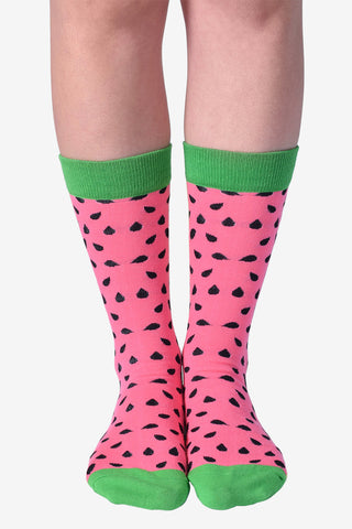 Watermelon Slice Crew Socks