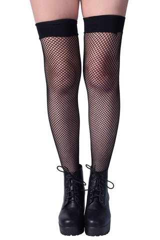 Fishnet Thigh High Socks