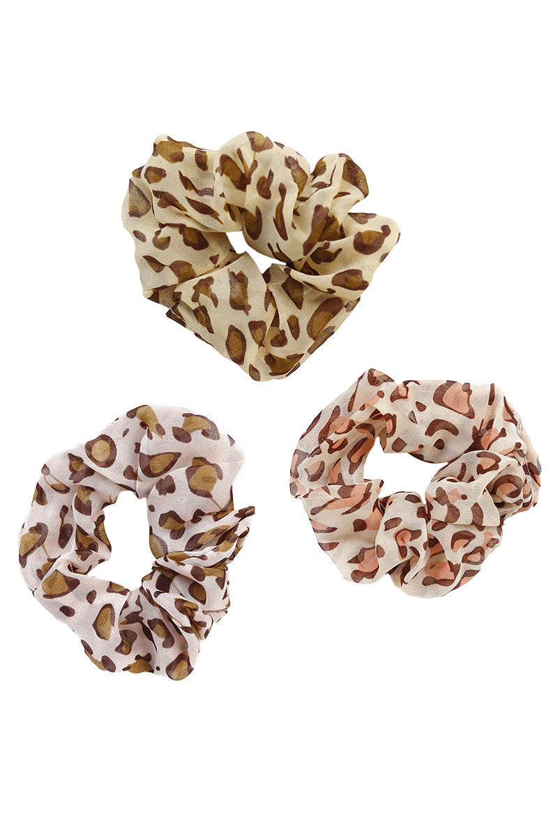 Wild Print Scrunchie Pack By ECH