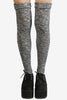 Grey Speckled Knit Thigh High Socks at EchoClubHouse main image