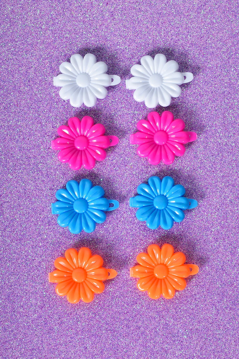 Welcome To Miami Floral Hair Clip Set