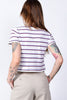 White Multi Stripe Boxy Polo by Dickies Girl
