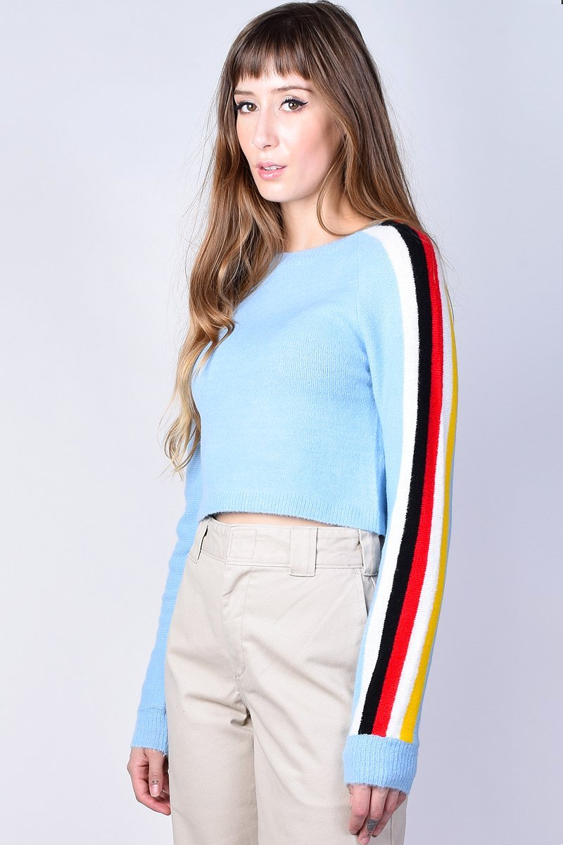 Nadine Sleeve Stripe Knit Sweater