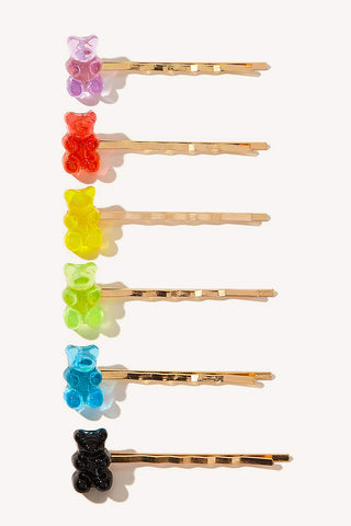 Gummy Bear Hair Clip Set