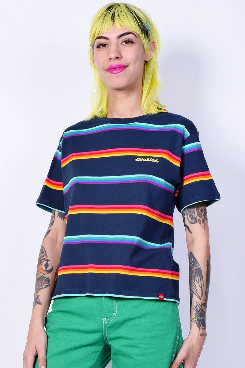 Tomboy Stripe Tee by Dickies Girl - Navy