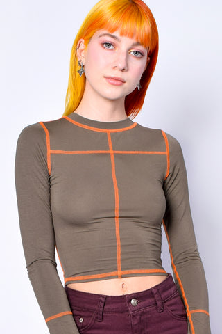 Ingram Contrast Stitching Top