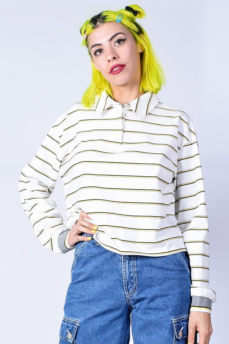 Ollie Striped Boxy Polo