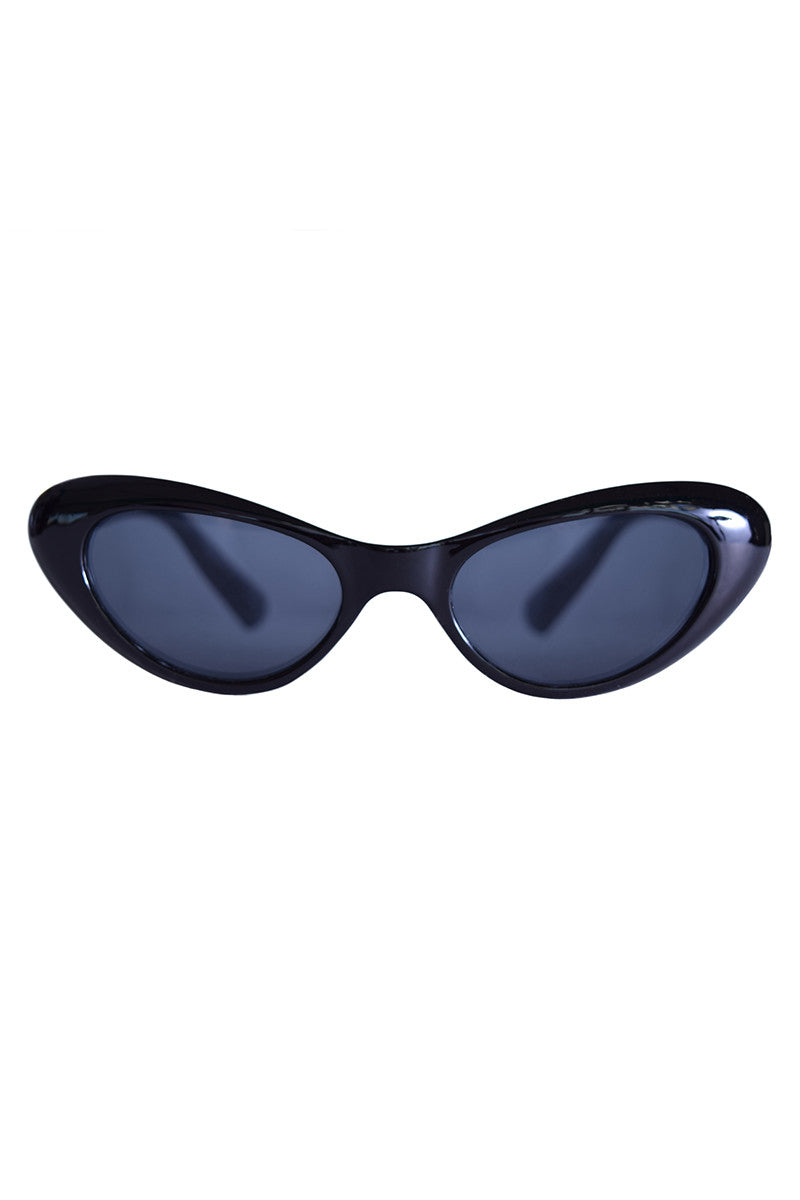 Vintage Cat Eye Deadstock Sunglasses - Black