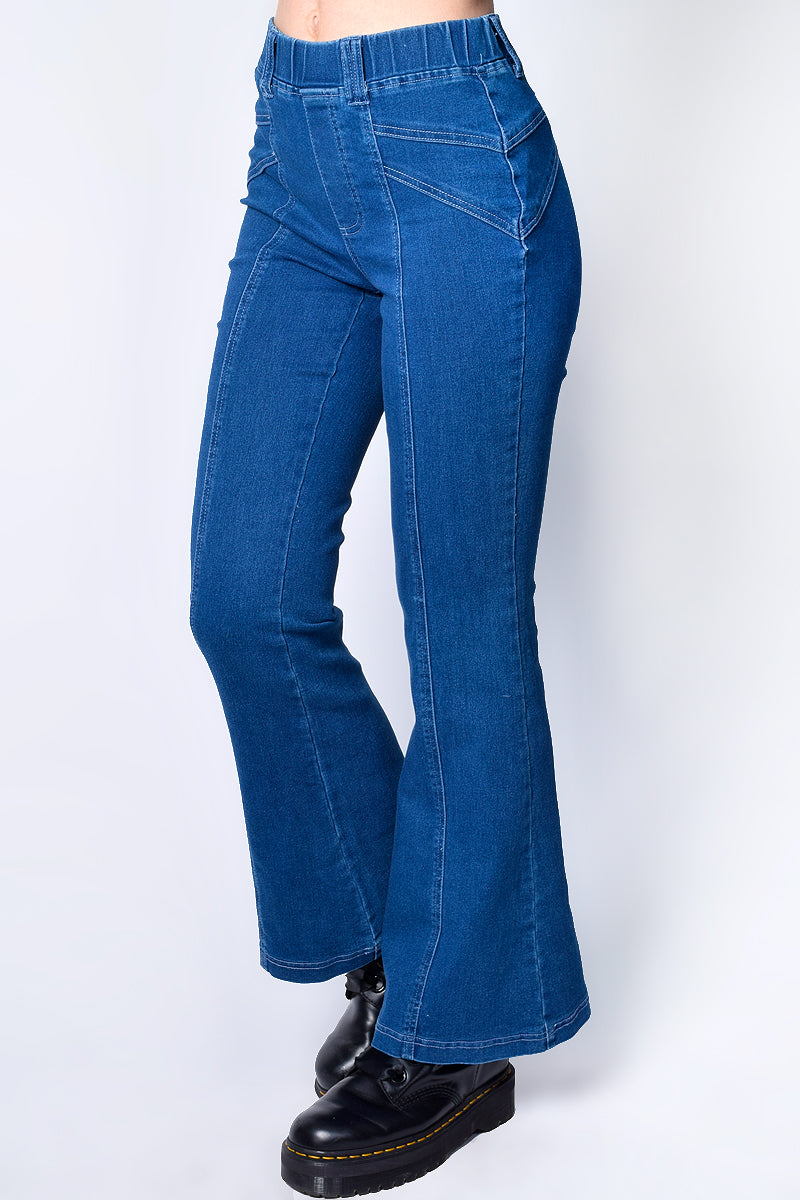 Chester Flare Front Seam Detail Denim