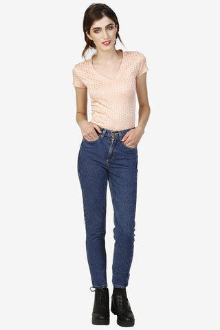 High Waist Mom Jeans - Medium Wash