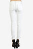Knee Slit Ankle Skinny Denim by Just USA - Almost White