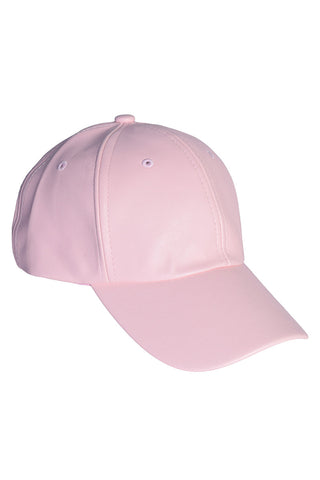 Pleather Pink BB Girl Hat